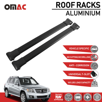 Roof Rack Cross Bars Luggage Carrier Black fits Mercedes Benz GLK X204 2010-2015