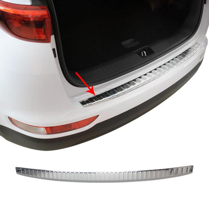 Fits Kia Sportage 2017-2018 Chrome Rear Bumper Guard Trunk Sill Protector Steel