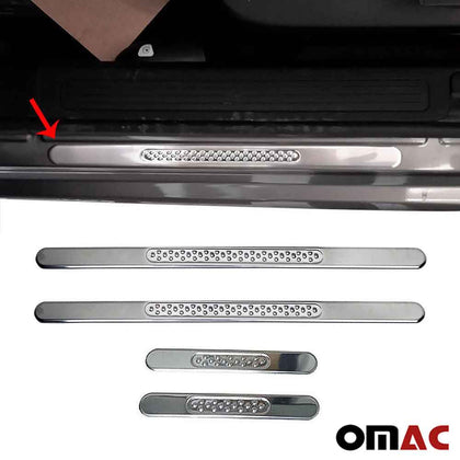 Fits Hyundai Accent Door Sill Plate Cover Trim Stainless Steel 4 Pcs