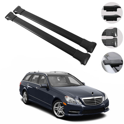 Roof Rack Cross Bars Luggage Carrier Fits Mercedes E Class S212 Estate 2010-2016
