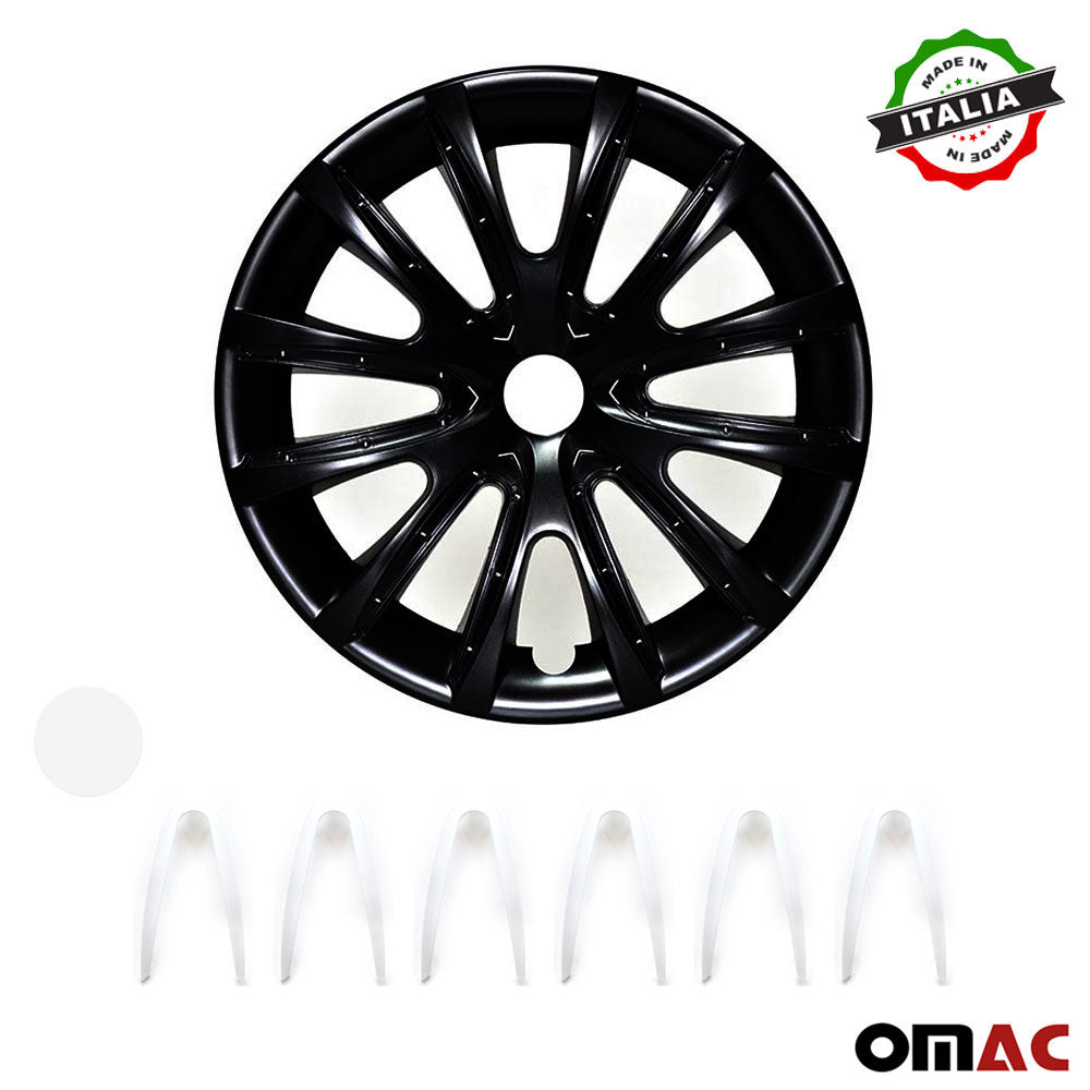 "16"" Inch Hubcaps Wheel Rim Cover Matt Black with White for Ford Ranger Set"