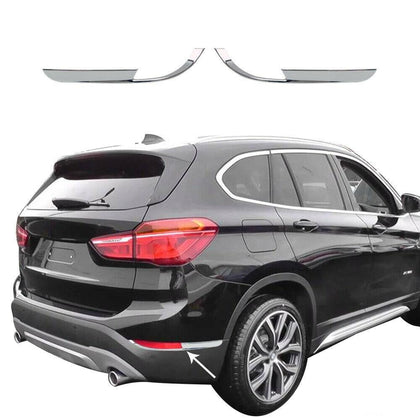 For BMW X1 F48 2016-2019 Chrome Rear Reflector Light Frame Trim Left Right 2 Pcs