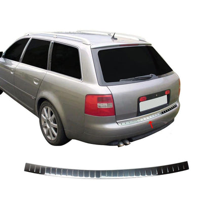 Fits Audi A6 Avant 1997-2004 Chrome Rear Bumper Guard Trunk Sill Cover S.Steel Omac Shop Usa - Auto Accessories