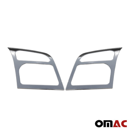 Fits Ford Transit Connect 2010-2013 Chrome Headlight Trim Overlay Frame 2 Pcs Omac Shop Usa - Auto Accessories