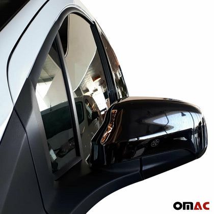 Dark Chrome Side Mirror Cover Cap 2 Pcs For Ford Tourneo Courier 2017-2020