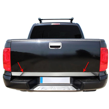 Fits VW Amarok 2010-2019 S.Steel Chrome Trunk Door Lid Tailgate Trim Moulding Omac Shop Usa - Auto Accessories