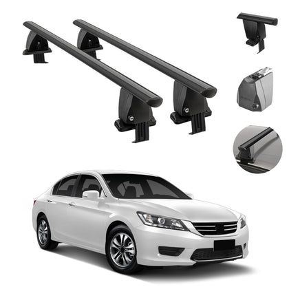 Fits Honda Accord Sedan 2013-2017 Smooth Roof Rack Cross Bar Carrier Rail Black
