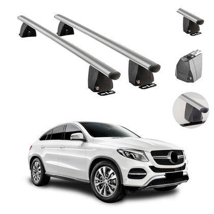 Fixed Point Cross Bar Roof Rack Carrier Rail For MB GLE Class Coupe 2016-2018