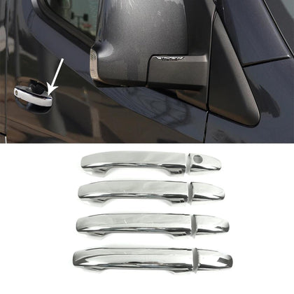 Fits Mercedes Sprinter 2019-2020 Chrome Side Door Handle Cover 1 Key Hole 8 Pcs Omac Shop Usa - Auto Accessories