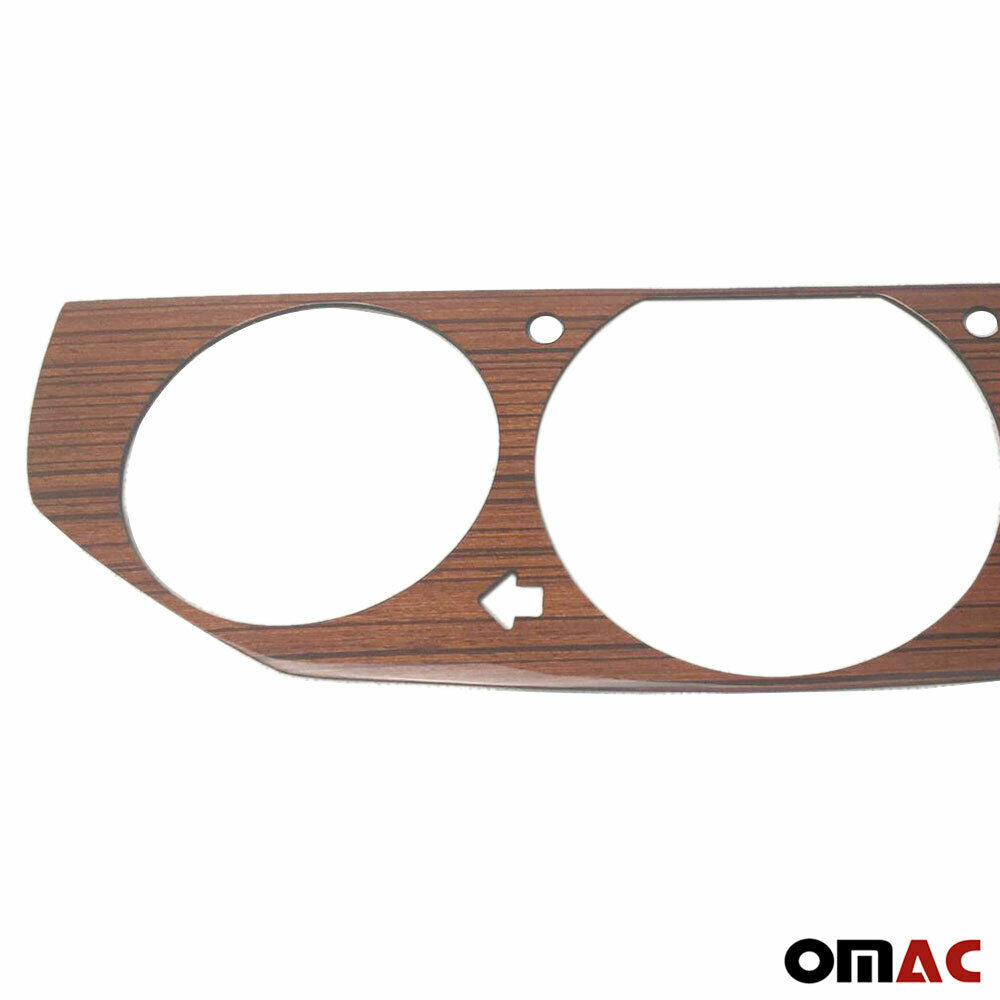 Genuine Wooden Zebrano Instrument Gauge Panel Frame for Mercedes W124 1989-1993