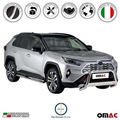 For Toyota RAV4 Hybrid (XA50) 2019-2020 Bull Bar Front Bumper Grill Guard Steel - Omac Shop Usa - Auto Accessories