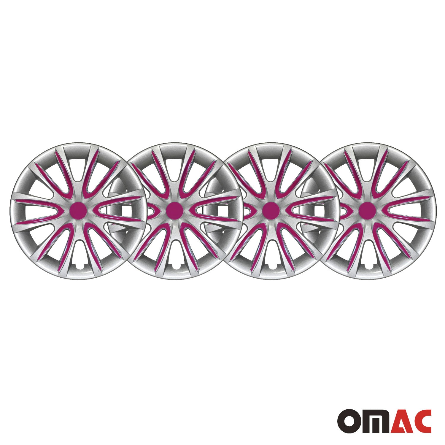 "16"" Inch Hubcaps Wheel Rim Cover Gray with Violet Insert For Ford Transit 4pcs"