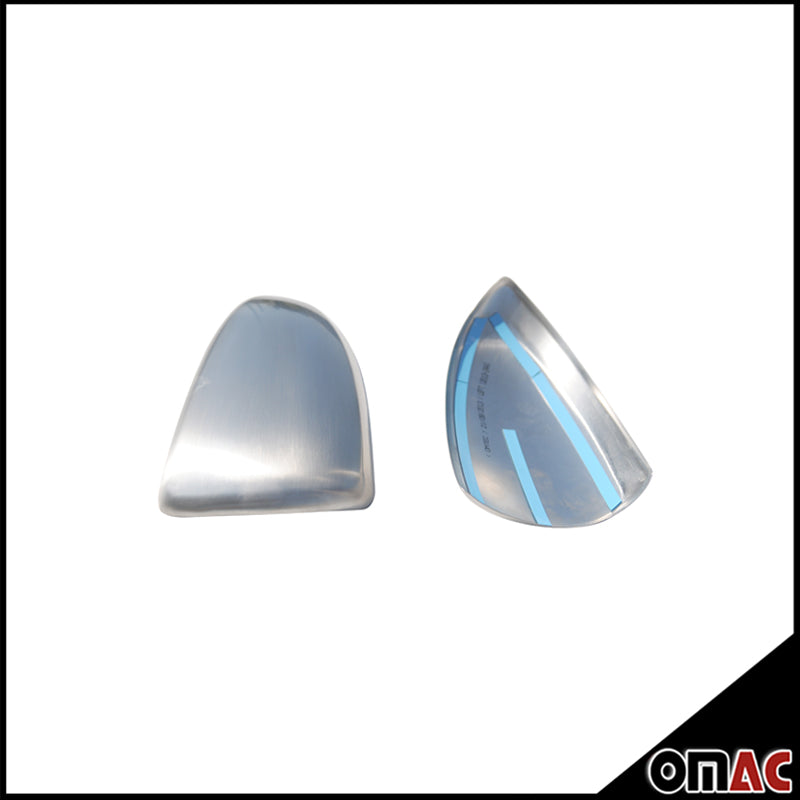 Fits VW Touareg  2011-2017 Chrome Side Mirror Cover Cap 2 Pcs Stainless Steel