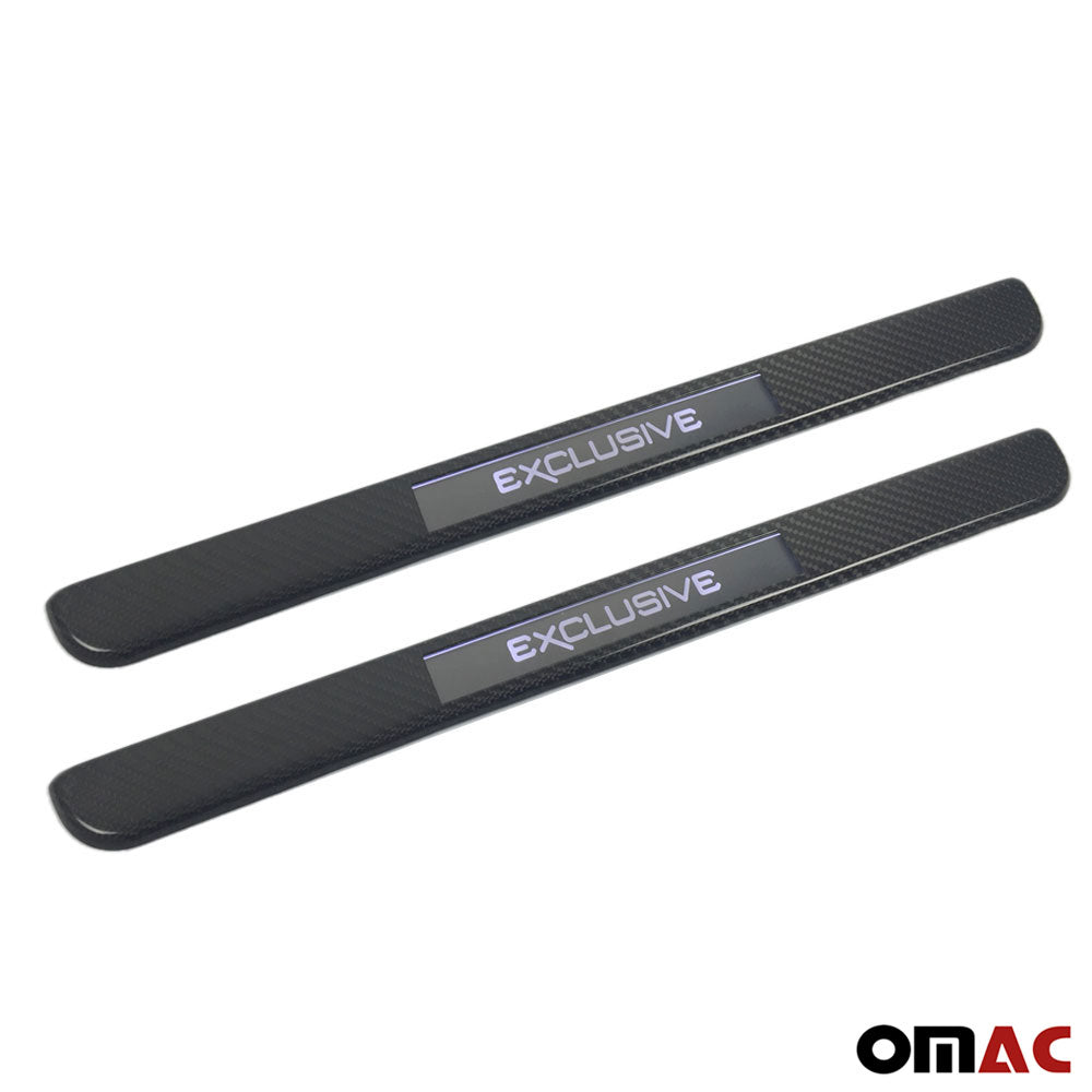 For BMW Z4 Genuine Carbon LED Door Sill Cover Exclusive 2 Pcs