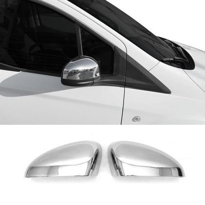 Fits Ford Transit Connect 2014-2020 Chrome Side Mirror Cover Cap 2 Pcs