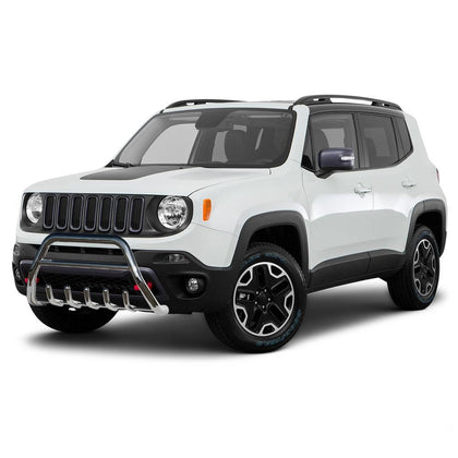Bull Bar Front Bumper Guard Stainless Steel for Jeep Renegade 2015-2021