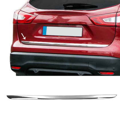 Lower Tailgate Trim Trunk Door Streamer S. Steel For Nissan Qashqai 2014-2020