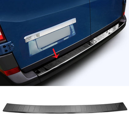 Fits VW Crafter  2006- 2017 Dark Chrome Bumper Guard Trunk Sill Protector