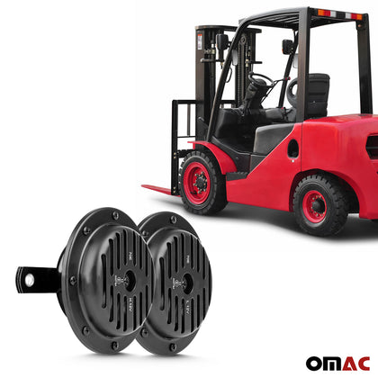 12V Loud 105dB Black Supersonic Horn For Forklift Lift Truck - Omac Shop Usa - Auto Accessories