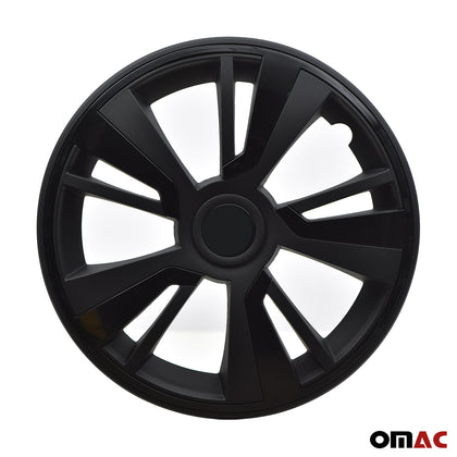 16'' Inch Hubcaps Wheel Rim Cover Black with Black Insert 4pcs Set
