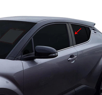 Fits Toyota C-HR 2018-2020 Dark Chrome Window Panel B Pillar Trim S.Steel 4 Pcs Omac Shop Usa - Auto Accessories