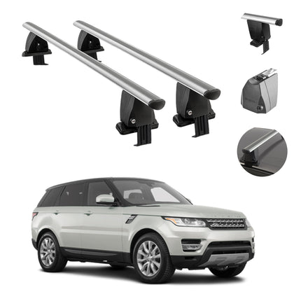 Smooth Top Roof Rack Crossbar Cargo Carrier For LR Range Rover Sport 2014-2021
