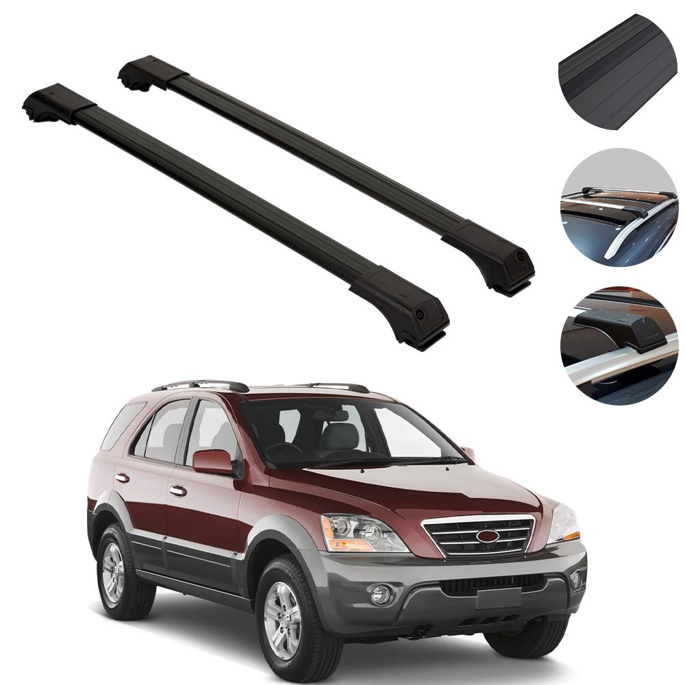 Roof Rack Cross Bars Luggage Carrier Black for Kia Sorento 2006-2014