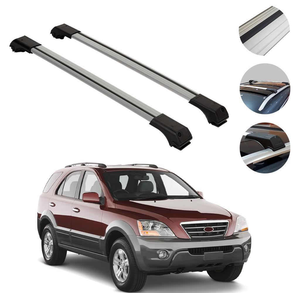 Roof Rack Cross Bars Luggage Carrier Silver for Kia Sedona 2006-2014
