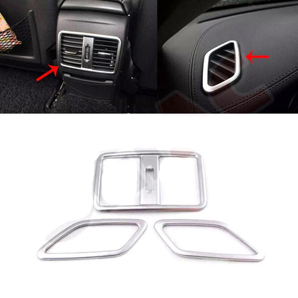 Fits Mercedes GLA-Class X156 2015-2019 Chrome Air A/C Vent Frame Trim 3 Pcs Omac Shop Usa - Auto Accessories