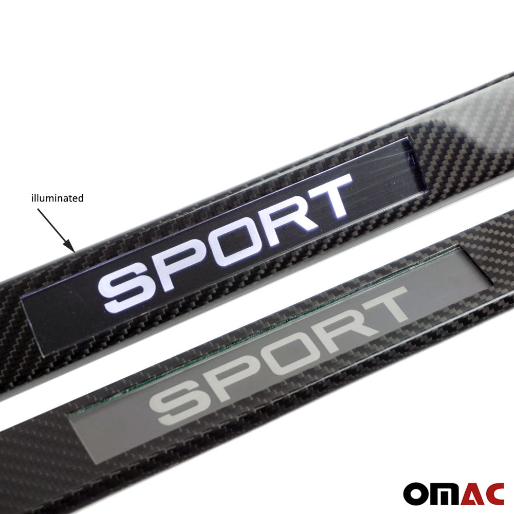 For Toyota Solara LED Genuine Carbon Fiber Door Sill Cover Sport 2 Pcs