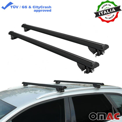Roof Rack Cross Bars Cross Rail Aluminum Black 2 Pcs. For Ford Edge 2015-2019