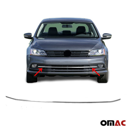 Chrome Front Bumper Grill Trim Streamer S. Steel For VW Jetta 2015-2018 - Omac Shop Usa - Auto Accessories