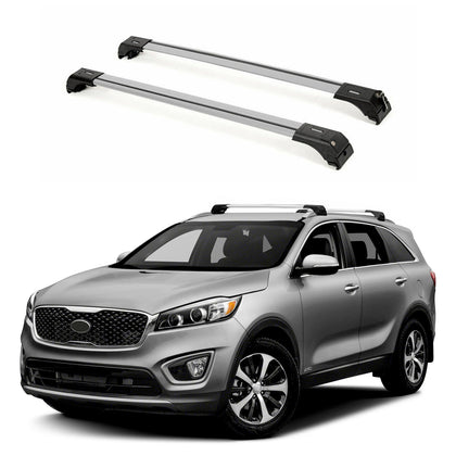 Aluminum Roof Rack Cross Bars Luggage Carrier Silver Fits Kia Sorento 2016-2020 - Omac Shop Usa - Auto Accessories