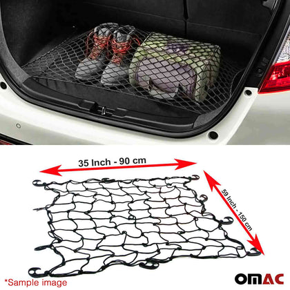 Floor Style Trunk Cargo Net 35'' x 59'' Mesh Strorage Organizer For Nissan Rogue Omac Shop Usa - Auto Accessories