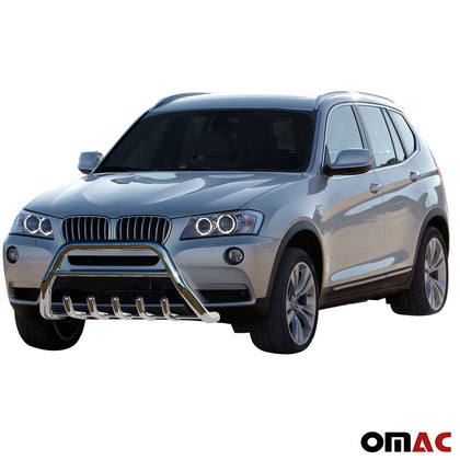 For BMW X3 F25 2011-2017 S.Steel Bull Bar Front Bumper Protection Guard Bar