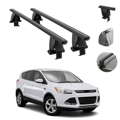 Fits Ford Escape 2013-2019 Smooth Top Roof Rack Cross Bar Cargo Carrier Black