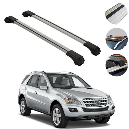 Roof Rack Cross Bars Luggage Carrier Alu for Mercedes ML W164 2006-2011
