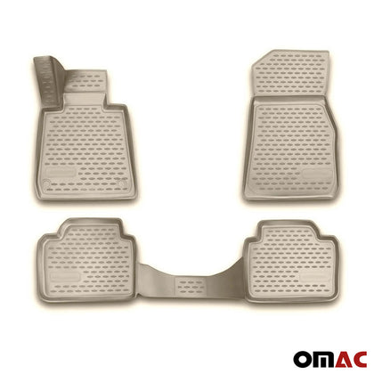 Floor Mats Liner Tan 3D Molded For BMW 3 Series (E46) Sedan 1998-2007