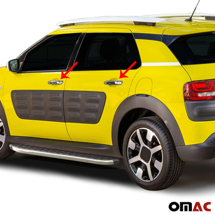 Fits Citroen C3 Aircross 2017-2019 Chrome Side Door Handle Cover Stainless 8 Pcs Omac Shop Usa - Auto Accessories