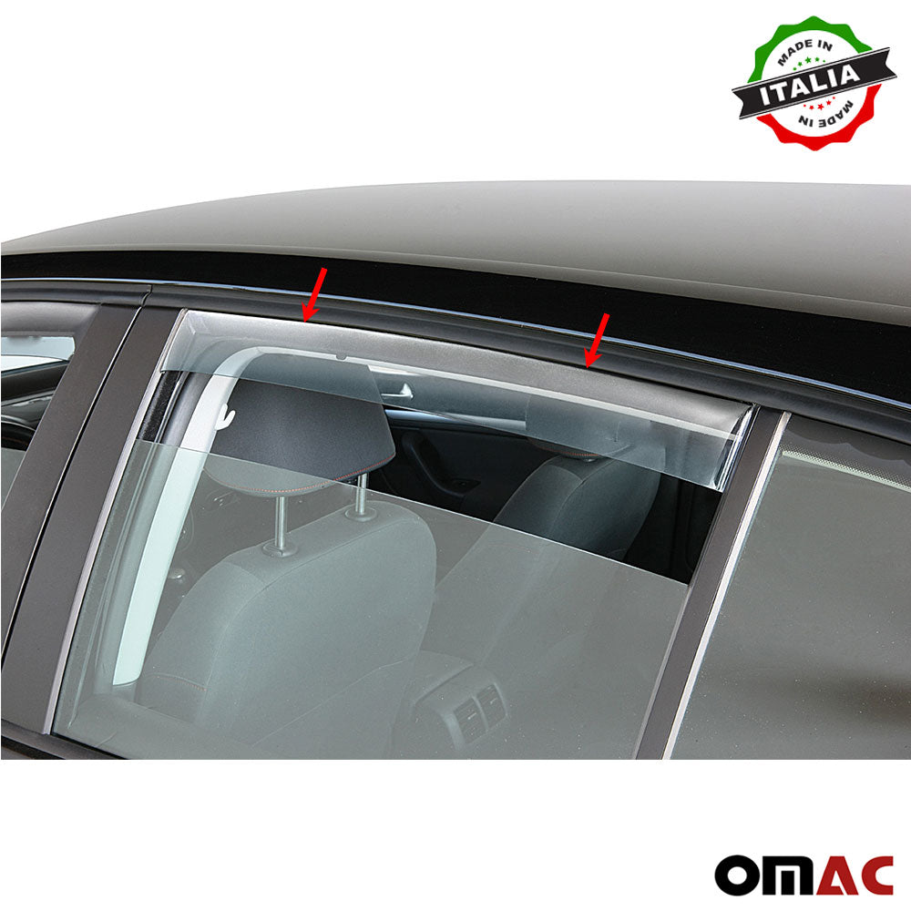 Window Visor Vent Sun Shade Rain Guard 4pcs Fits Alfa Romeo Giulia 2016-2020