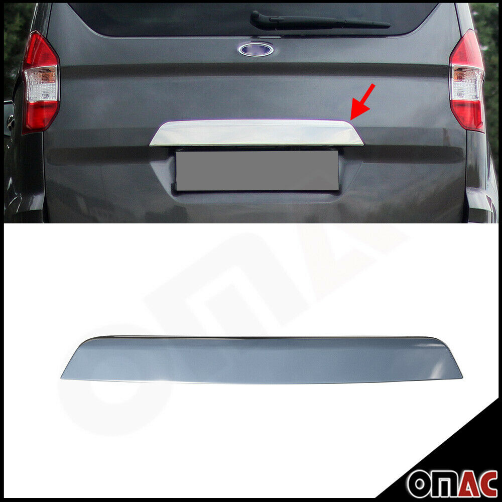 Rear Trunk Lid Cover License Plate Trim Steel For Ford Tourneo Courier 2014-2020