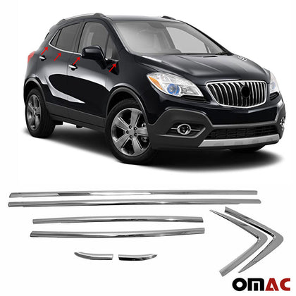 Chrome Window Trim Overlay Cover Stainless Steel For Opel Mokka 2012-2016