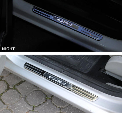 Fits Nissan Rogue SPORT 2017-2019 LED Chrome Door Sill Guard S.Steel 2 Pcs Omac Shop Usa - Auto Accessories