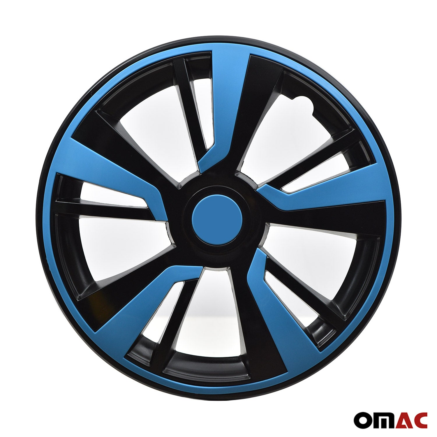 15'' Hubcaps Wheel Rim Cover Black with Blue Insert 4pcs Set For Mazda