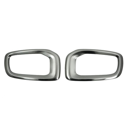 Fits JEEP RENEGADE 2015-2020 Chrome Front  Fog Light Trim Steel Dark Brushed Omac Shop Usa - Auto Accessories