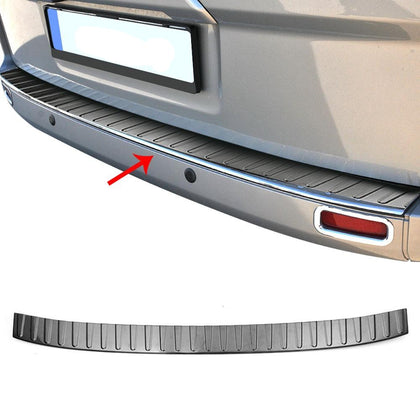 Rear Bumper Guard Trunk Sill Cover Brushed For Ford Transit Custom 2013-2020