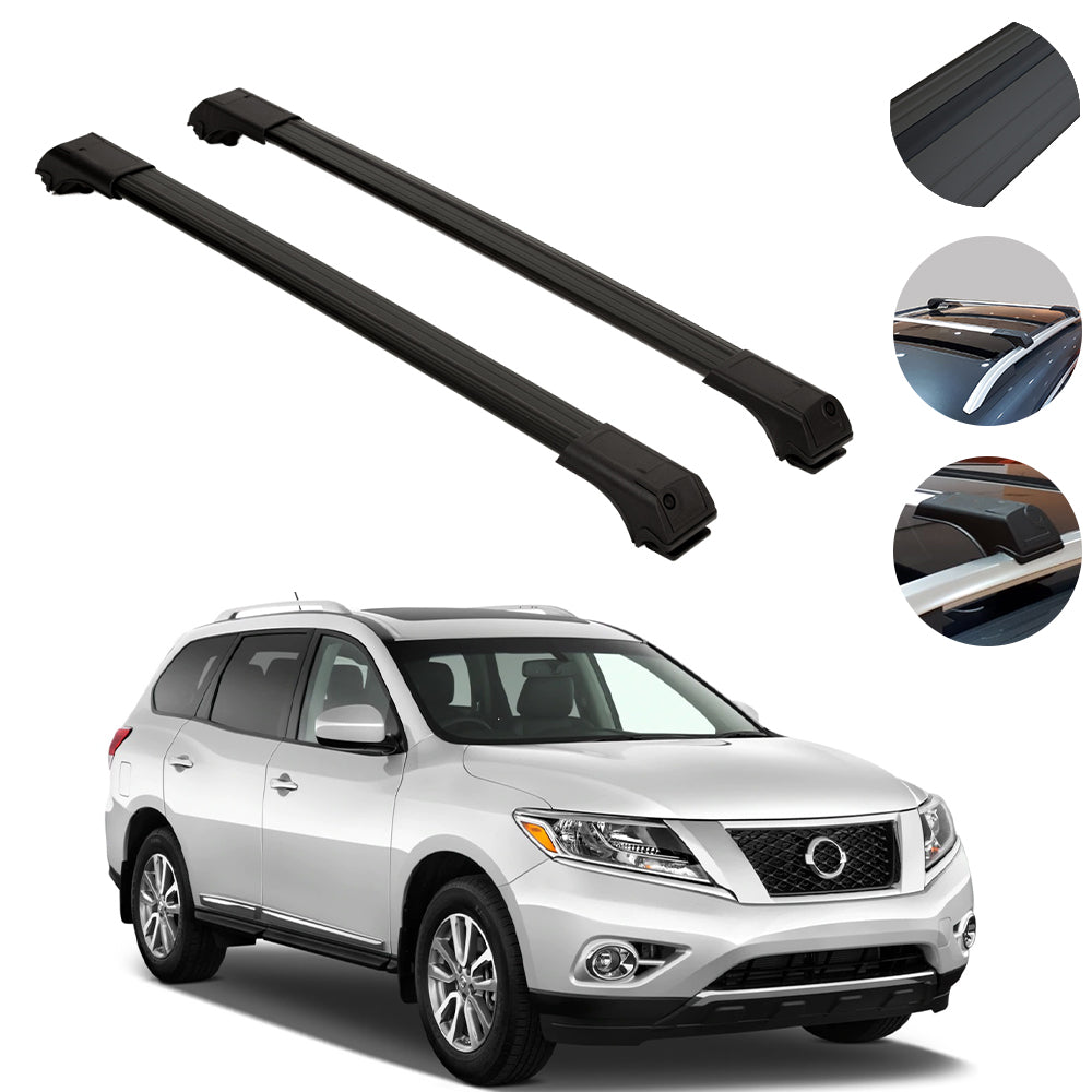 Roof Rack Cross Bars Luggage Carrier Black For Nissan Pathfinder 2005 Omac Shop Usa Auto Accessories