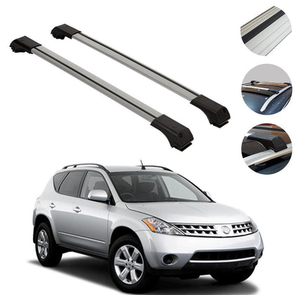 Roof Rack Cross Bars Luggage Carrier Silver for Nissan Murano 1 2003-2008