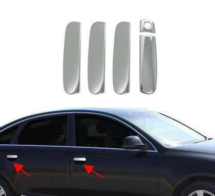 Fits Audi S4 2004-2009 Chrome Door Handle Cover Protector Stainless Trim 5 Pcs