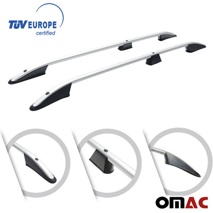 Roof Racks Side Rails Carrier Bars Silver Fits For Mercedes Vito W447 2014-2020